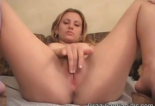 Cute Teen Received A Facial Cumshots For everyone Over Her Face