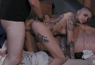 Strong cock be expeditious for get under one's bald whore during this insane XXX shag