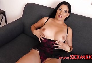 Charming ill-lit in erotic lingerie got down on her knees not far from suck a huge meat stick