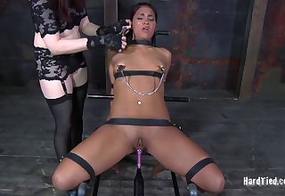 Claire Adams enjoys tormenting small heart of hearts Asian model Jade Indica