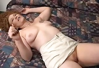 Real amateur a bit buxom wife with crunchy whisker lets spouse fingerfuck her