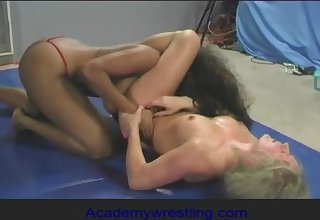 academywrestling.com  Dia Zerva, Africa Allen, Cissified Wrestling, Strapon Sex, Lesbian Fight, Competitive Wrestling, Pussy Eating