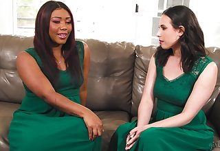 Bridesmaids Chanell Heart added to Casey Calvert make memories above a difficulty big day