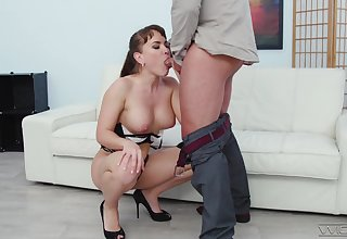 Sophisticated Russian loveliness Dizel is an anal sex addict