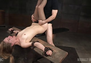 Flexible star Mona Wales gets will not hear of indiscretion and pussy fucked at the end of one's tether 2 guys
