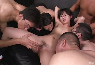 Real Asian pack bang pleasures be fitting of a shy inferior thirsty be fitting of cum