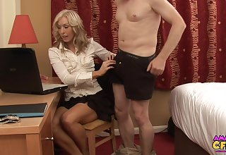CFNM photograph of secretary Mia Moore pleasuring will not hear of horny queen