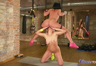 Stunning MILFs patch splendid lezzie moments together