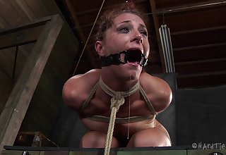 Rough torture session for fetching redhead slave CiCi Rhodes