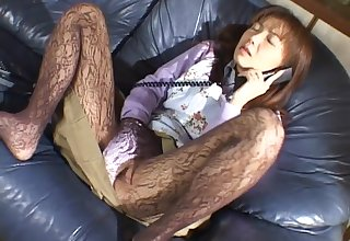 Closeup amateur video of a skinny girl riding a lucky guy