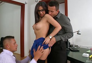 Fine moments of harsh anal handy the office with the new secretary