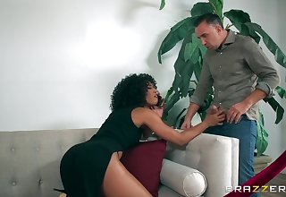 Insane black sex with a curly ebony that knows concern