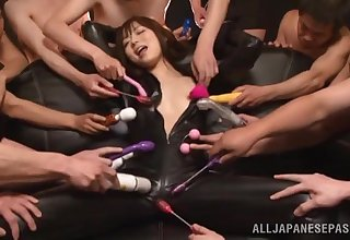 Bukkake ending be advisable for a slutty Japanese babe after sucking lot of dicks
