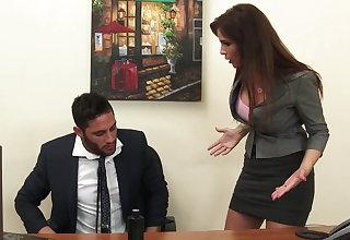 Sexy milf boss Syren De Mer exploits employee for detect hd