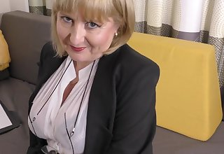 A highly glamour occupation interview hard by 57yo handsome Lorna blu