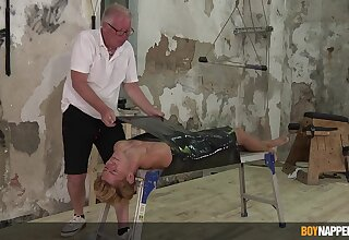 Deep BDSM joyous porn shows grandpa acting pretty nasty