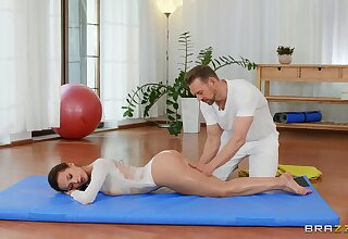 Oiled babe receives the best massage and the deepest lose one's heart to