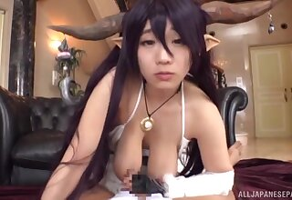 Kinky fucking here adorable Japanese cosplay model Shibuya Kaho