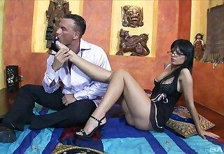 Fine babe bends for flannel tick careful foot teaser