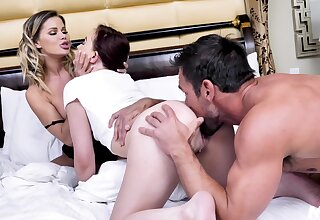 Mom-daughter dwelling soft soap in uncultured threesome