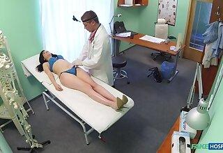 Doctor prescribes his cock to help relieve downcast patients back pain