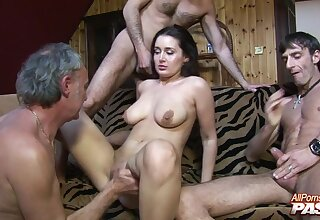 Cock hungry Melissa Black gets her pussy and mouth fucked abyss