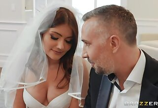 Stepdad fucks bride stepdaughter Adria Rae in anus added to deep throat