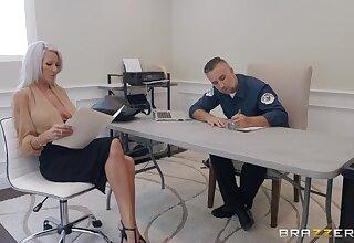 50 yo cougar Emma Superstar gets intimate with handsome policeman