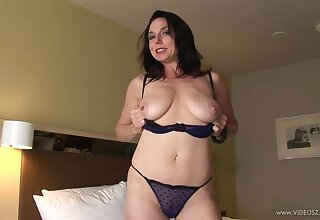 Nice fucking in hammer away bedroom with a of age wife in fishnet stockings