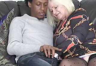 Grannylovesblack - Cold caller up in my asshole - Interracial