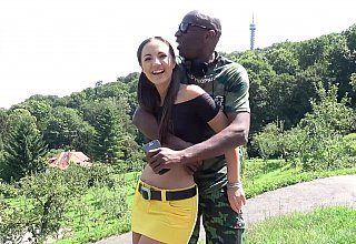 Interracial pounding in Prague