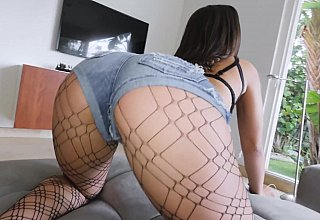 Ripped stockings anal