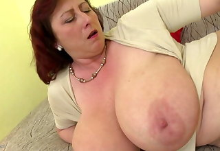 Mature queen mom with big tits and hungry cunt
