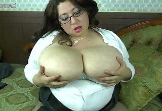 Spanish mom with big tits