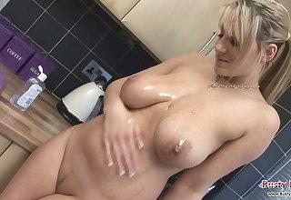 Lexy Big Tits Oil And Cling Film Fun