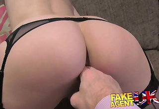 FakeAgentUK Sexy amateur gets sweet anal action in porn cast