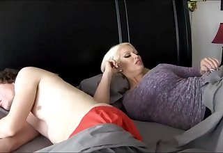 Super-Sexy ash-blonde chick close by massive breasts is plumbing their way step- son-in-law because she loves his hard-on
