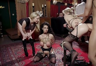 Breast bondage correspond all round with doggy analfuck gonna please whore Arabelle Raphael