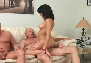 Buxom black fiend with sexy rack Riley Mason is made to excursion fat cock