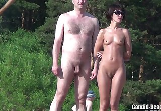 Beach Nudists By The River - amateur defoliate girls