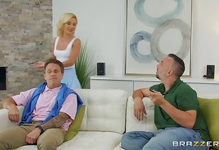 sweltering blonde Bella Crunch at one's best spreads her legs for big cock for ages c in depth she screams