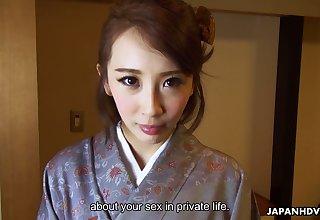 Kawaii Japanese housewife Aya Kisaki wanna get slit masturbated far vibe