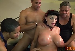 White GILF takes 3-way BIG Disastrous COCK screw of her life