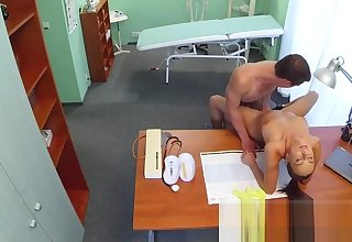 Nurse fucks stud while water down is out