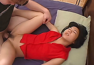 Hairy Asian amateur fucked hard by say no to white boyfriend
