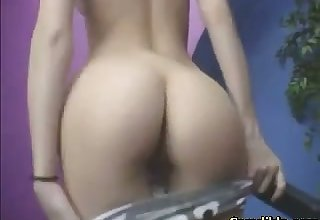 oversexed girl fucking and fingering her pussy and asshole