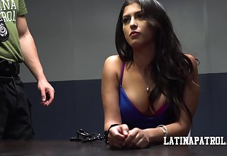 Arrested Latin babe Sophia Leone is fucked hard by kinky policeman