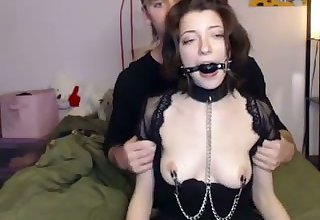 This submissive webcam pain slut loves to show her kinky side to us