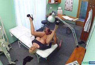 Nude bush-leaguer porn with a horny doctor and a mature woman