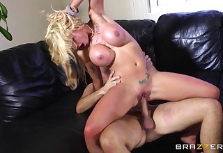 Blonde slut Candy Sexton loves nearly be fucked by a Cyclopean cock